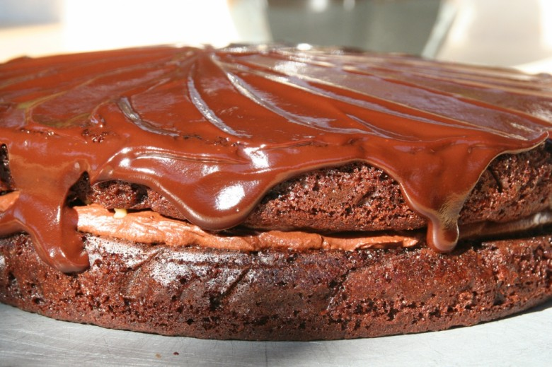 Chocolate Layer Mousse Cake
