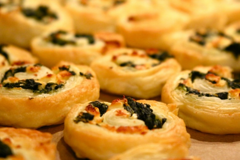 Spinach and feta pinwheels